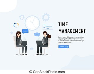 Time management web page poster
