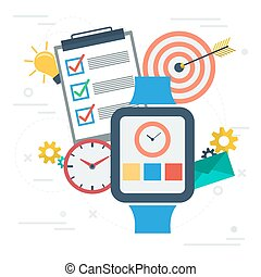 Time management with smart watch