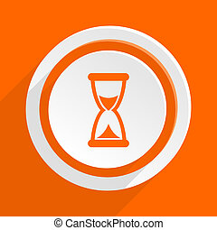 time orange flat design modern icon for web and mobile app