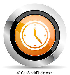 time orange icon watch sign