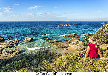 Time out to take in the beautiful coastal views of Australia