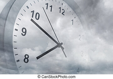 Time passing - Clock face in sky