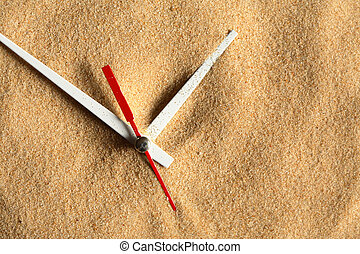 Time Passing - Time concept. Sand background with clock ...