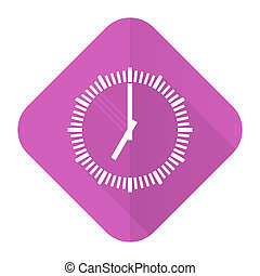 time pink flat icon clock sign