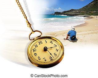 time., plage