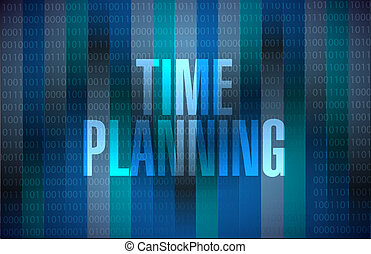 time planning binary sign concept