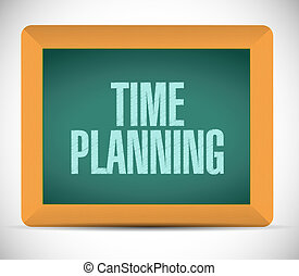 time planning board sign concept