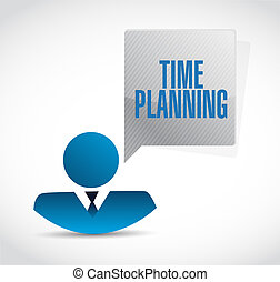 time planning businessman sign concept