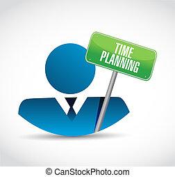 time planning businessman sign concept
