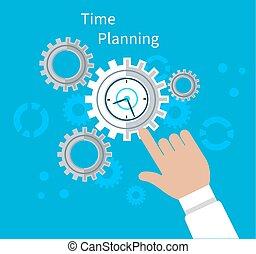 Time Planning Concept Flat Design