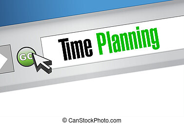 time planning online sign concept