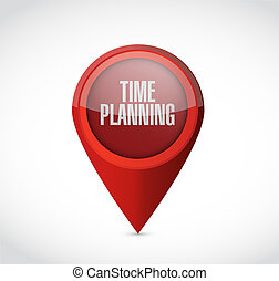 time planning pointer sign concept