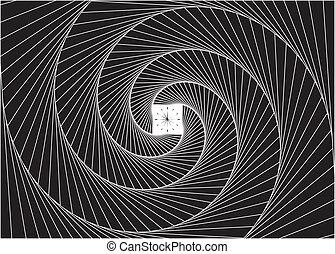 Vector file of time portal design concept.