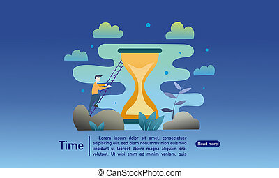 Time productivity landing page banner template