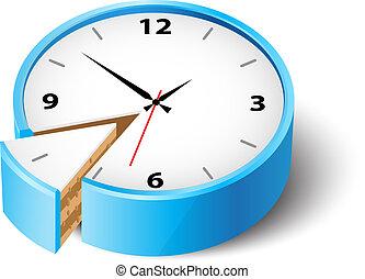 Time saving - Vector illustration about saving time