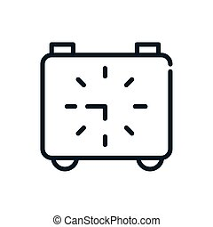 time square clock analogue linear design
