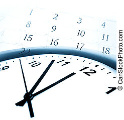 Time - Clock face and calendar numbers