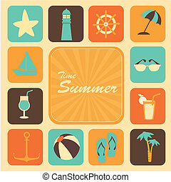 time summer icons