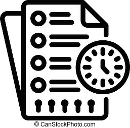 Time syllabus icon. Outline time syllabus vector icon for web design isolated on white background