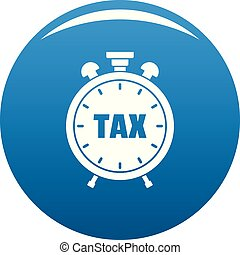 Time tax icon vector blue