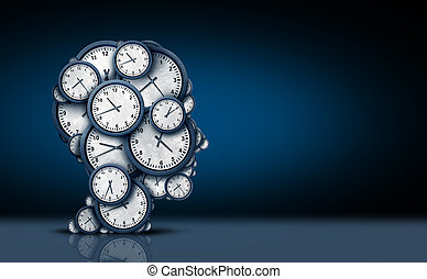 Time Thinking Concept - Time thinking concept as a group of...
