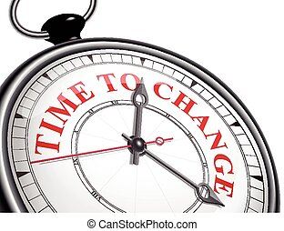 time to change concept clock