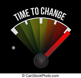 time to change meter sign isolated concept