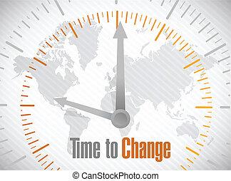 time to change world map illustration design