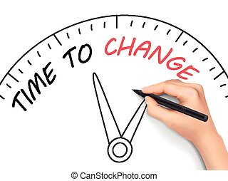 time to change written by hand