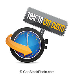 time to cut cost concept illustration design over white
