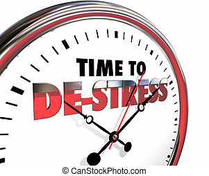 Time to De-Stress Clock Relax Enjoy Life 3d Illustration
