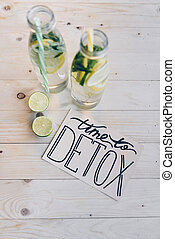 time to detox card and drinks