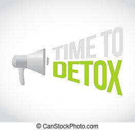 time to detox loudspeaker text message illustration design