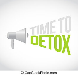 time to detox loudspeaker text message illustration design