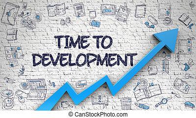 Time To Development Drawn on White Wall.