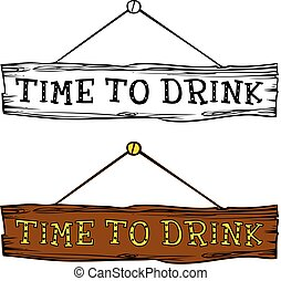 Time to drink label