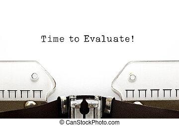Time to Evaluate Typewriter