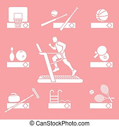 Time to fitness and sports. Healthy lifestyle.