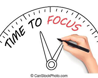 time to focus written by hand