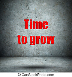 Time to grow concrete wall