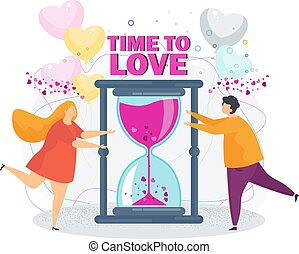 Time to love. A loving couple girl and boyfriend.