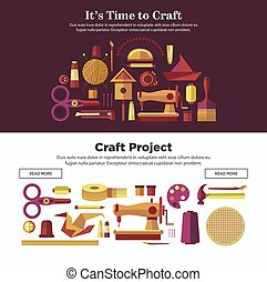 Time to make craft projects promotional Internet posters