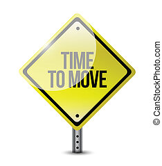 time to move signpost illustration