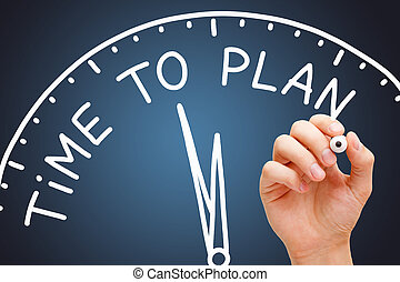 Time To Plan Clock Business Concept