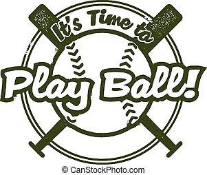Time to Play Baseball