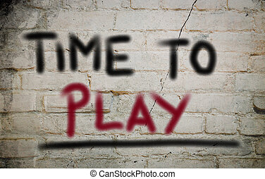Time To Play Concept