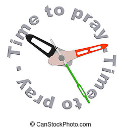 Time to pray ask help to God and Jesus praying for salvation...