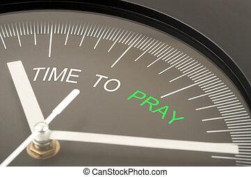 Time to pray text on clock