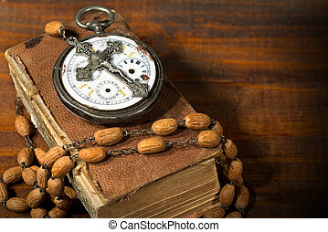Time to Pray - Watch Crucifix and Bible