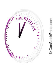 Time to relax clock vector illustration